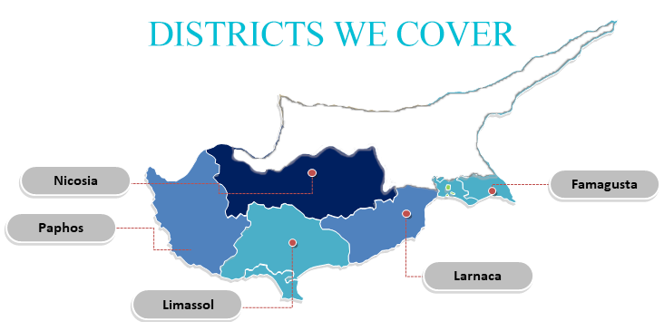 Districts in Cyprus we provide our communal managment services for